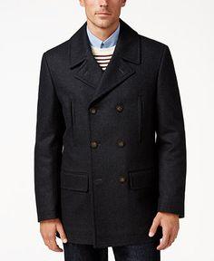 Lauren Ralph Lauren Luke Solid Peacoat - Coats & Jackets - Men - Macy's