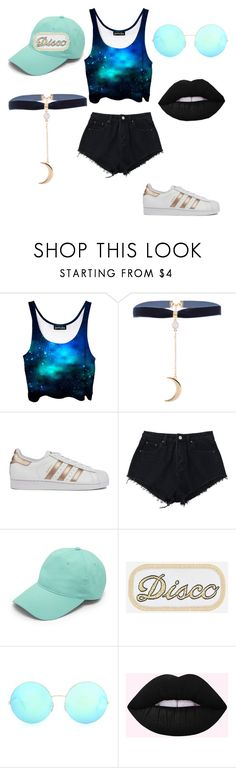 """""""Stargirl"""" by xxtumblrunicornxx ❤ liked on Polyvore featuring adidas, Forever 21 and Victoria Beckham"""