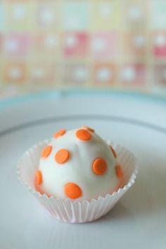 Pastel cake pops 12 pieces one dozen edible favor pastel orange polka dot cupcake cake bites 12 pieces one dozen edible favor weddings baby showers birthday parties edible gift negle Choice Image
