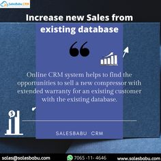 Online CRM system helps to find the opportunities to sell a new compressor with extended warranty for an existing customer with the existing database. Customer Complaints, Crm System, Small Business Solutions, Tracking App, Customer Relationship Management, Existing Customer, Cloud Based, Start Up Business, Sales And Marketing