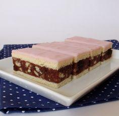 Citromhab: Puncs szelet Hungarian Cookies, Hungarian Desserts, Hungarian Recipes, Hungarian Food, Croatian Recipes, Cake Bars, Something Sweet, No Bake Desserts, Sweet Recipes