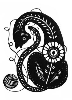 Tangled  5 x 7 inch Cut Paper Art Print by ruralpearl on Etsy, $14.00