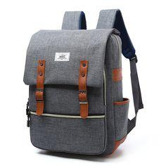 22c70afb4046 Canvas Travel Backpack Purses Backpack Schoolbag Laptop Shoulder Bag
