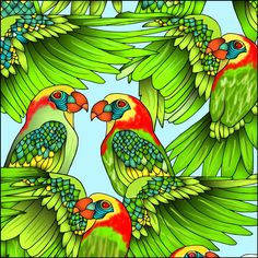 Love How David Eberhart Colored This Page From Our Tropical Vibes Coloring Book Have You Tried The Pigment App Yet Its Best Adult