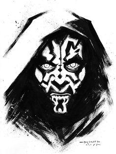 Star Wars Darth Maul Fan Art by Ricardo Drumond