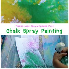Make your own simple chalk spray paint for summer outdoor fun!