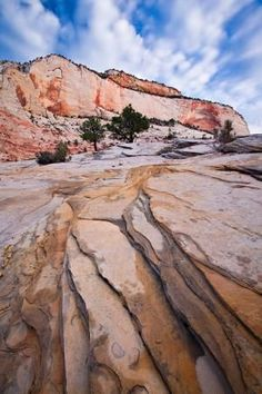 Emerald Pools Zion | ... provide nice leading lines in this image from Zion's upper plateau
