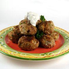 Turkey Meatballs with Lemon-Garlic Yogurt Sauce (Alter slightly to make GAPS legal)