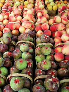 Peaches and Figs, Fruit stand in Itatiba, Sao Paulo