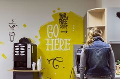 Painting walls / EPAM by Victoria and Vitalia on Behance