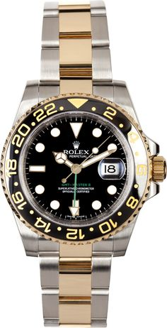 Rolex GMT Master II Stainless Steel and Gold