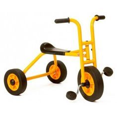 Yellow School Trike, Toddler Tricycle for Backyard and Playground Mini Piscina, Outdoor Play Structures, Bicycle Workout, Bicycle Shop, Backyard Playground, Ride On Toys, Kids Bike, Yellow Black, Kids Playing