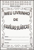LIVRO DAS FAMÍLIAS SILÁBICAS, IMPRIMIR, COLORIR, ESCREVER | Mistura de Alegria