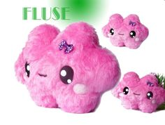 Fluse: Kleine Kuschelwolke aus hochwertigem Kuschel -Plüsch,Fell-Imitat in Rosa-Pink ! Einzelstück!Unikat! Nach eigener Vorlage hergestellt! Maschi...