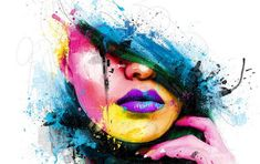 Image for Abstract Art Faces Wallpaper 2014
