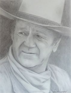A favorite of mine, I have drawn John Wayne so many times I rarely have to use a photo for reference.  RELATE to your subject.  Concentrate on the obvious features, then allow your eyes to go out of focus and you will be amazed at the features that are suddenly grabbing your attention.