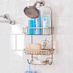 Hanging shower head rack