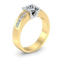 Diamond Engagement Ring Yellow Gold 58