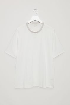 COS image 9 of T-shirt with kimono sleeves in White