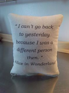 Alice in Wonderland pillow handmade baby by SweetMeadowDesigns