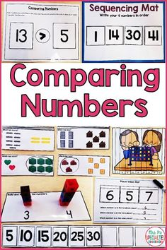 These activities are PERFECT for giving my special education students the practice and hands on experiences that they need in order to learn how numbers compare to one another. There are activities for our work task bins, direct instruction, math centers and small group practice. All of the visuals have been super helpful for my students with autism!