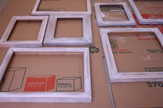 For DIY trelace: diy distressed picture frames Distressed Picture Frames, Painted Picture Frames, Rustic Picture Frames, Distressed Painting, Diy Crafts For Gifts, Diy Craft Projects, Picture Frame Crafts, Crafts With Pictures, Love Craft