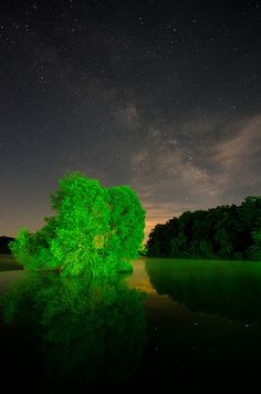 Lake Orange Milky Way, Orange County, Virginia, by Alexander Heavner.