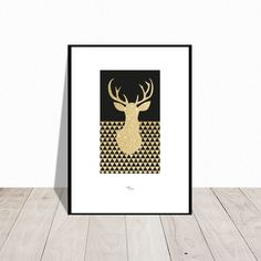 Dearest Deer in sparkling gold. Also available in silver. Design Mai-Britt Parylewicz.