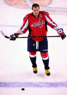 b8decad8935 CrowdCam Hot Shot  Washington Capitals forward Alex Ovechkin stands on the  ice prior to the