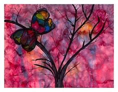 Alcohol Ink Painting - Butterfly Stains by Sherri Stewart