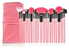 LyDia 24pcs Hot Pink Face Powder/Foundation/Concealer/Eyeshadow/Blending/Eyeliner/Lip Makeup Cosmetic Brush Set with Pink Case by LyDia Marca: LyDia Modelo: 24pcs Pink EAN13: 5055488298321 Categorí…