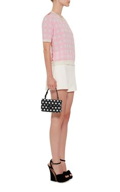 Leather Polka Dot Bag With Top Handle by ROCHAS Now Available on Moda Operandi