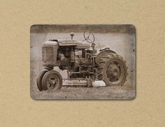 Photo Greeting  Card OLD TRACTOR Eco by FarmFreshPhotography, $4.25