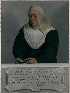 Abbess Lucrezia Agliardi Vertova - Giovanni Battista Moroni ( Italian, Albino, no later than 1524-1578)