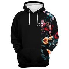 Together Bomber Jacket — Fresh Hoods Looks Country, Trendy Hoodies, Mens Fashion, Fashion Outfits, Cute Casual Outfits, Plain Black, Vintage Flowers, Vintage Floral, Look Cool