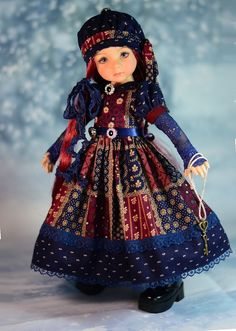 """This charming handmade ensemble will fit 13"""" Dianna Effner Little Darling Dolls. """"Mystery Manor """". Little Darling is invited to a Mystery Dinner and she is dressed for the occasion! Included in this ensemble.   eBay!"""