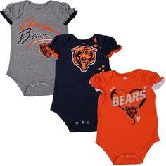 Outerstuff Nfl Infant Girls Cincinnati Bengals Assorted 3 Pack Creeper Set Bright In Colour Outfits & Sets Sports Mem, Cards & Fan Shop