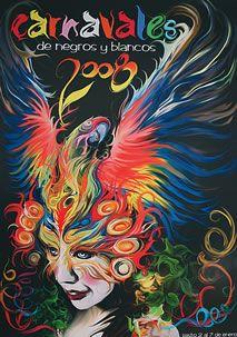 Afiche del Carnaval de Negros y Blancos 2008 en Pasto, Nariño, Colombia