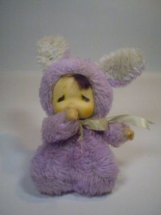 Vintage Thumb Sucking Baby Purple Spring Bunny Costume
