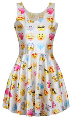 """Emoji Dress"" by kdriskill ❤ liked on Polyvore featuring beauty"