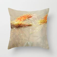 Autumn/秋菊 12 Throw Pillow by Katherine Song  - $20.00
