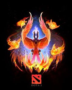 Phoenix Dota 2 by NatashaKashkina on DeviantArt Phoenix Dragon, Phoenix Art, Dota 2 Wallpapers Hd, Gaming Wallpapers, Dota 2 3d Wallpaper, Batman Arkham Origins, Batman Arkham City, Overwatch, Dota Tattoo