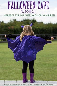 f5ca3bfc1a9 Sew A Reversible Halloween Cape....Perfect for Bats