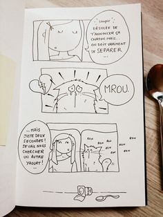 #dcaout / croquis bd chat / sketch comic cat