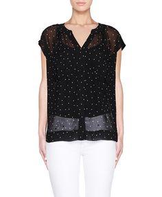 Black & White Polka Dot Shirt.Always a yes.