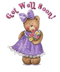 Get Well Glitter | Get Well Soon Teddy Bear Glitter For Share On Hi5