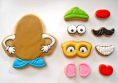 Playful cookie pieces.
