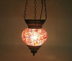 Red moroccan lantern mosaic hanging lamp glass chandelier light turkish candle holder n 96 handmade_antiques http://www.amazon.com/dp/B01EHTB61G/ref=cm_sw_r_pi_dp_UY2fxb0R149Q6