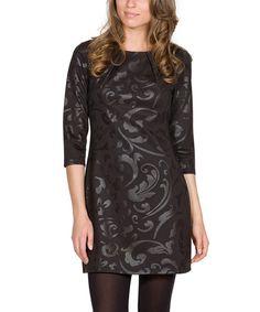 Look at this #zulilyfind! Black Citylights Dress #zulilyfinds