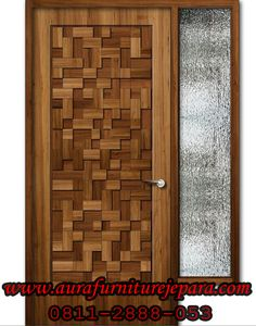 Pintu Rumah Jati Minimalis Mozaik